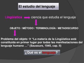 El estudio del lenguaje