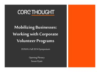 Mobilizing Businesses: Working with Corporate Volunteer Programs