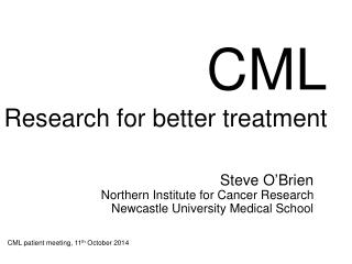 CML Research for better treatment