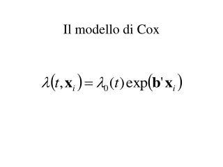 Il modello di Cox