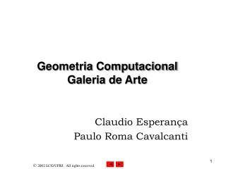 Geometria Computacional  Galeria de Arte