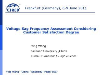 Ying Wang  �  China  �  Session2 � Paper  0587