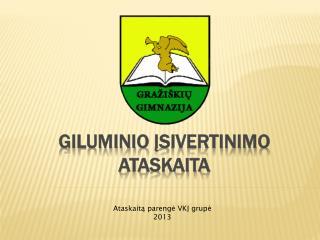 Giluminio  įsivertinimo ataskaita
