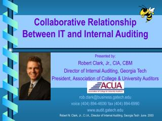 Collaborative Relationship Between IT and Internal Auditing