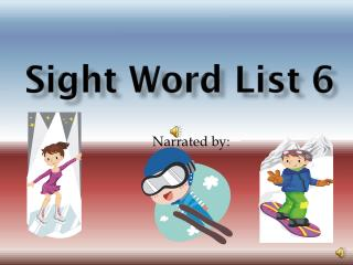 Sight Word List 6