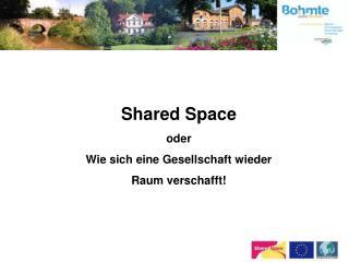 Shared Space oder  Wie sich eine Gesellschaft wieder Raum verschafft!