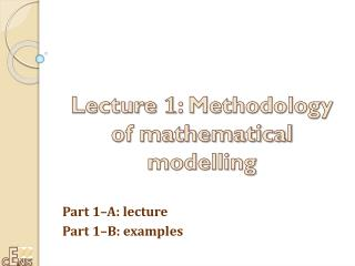 Part 1–A:  lecture Part 1–B:  examples