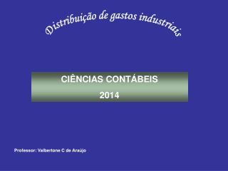 CI�NCIAS CONT�BEIS 2014