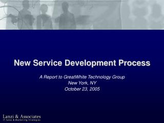 New Service Development Process