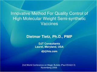 Innovative Method For Quality Control of High Molecular Weight Semi-synthetic Vaccines