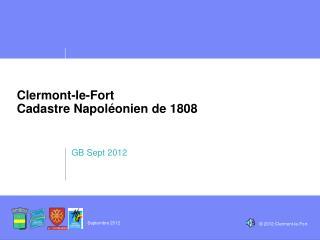 Clermont-le-Fort Cadastre Napoléonien de 1808