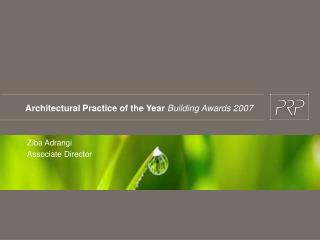 Architectural Practice of the Year Building Awards 2007