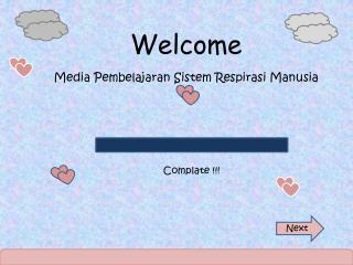 Welcome Media Pembelajaran Sistem Respirasi Manusia