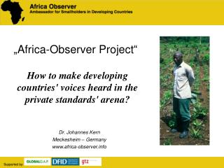Africa-Observer Project