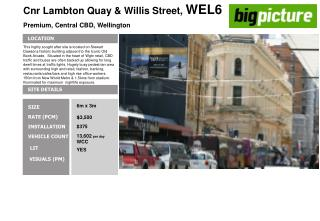 Cnr Lambton Quay & Willis Street,  WEL6 Premium, Central CBD, Wellington