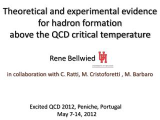 Theoretical and experimental evidence  for  hadron  formation above the QCD critical temperature