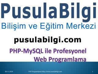 PHP- MySQL  ile Profesyonel  Web Programlama
