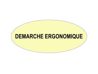DEMARCHE ERGONOMIQUE