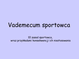 Vademecum sportowca
