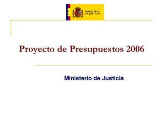 Proyecto de Presupuestos 2006