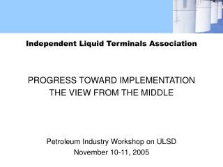 Independent Liquid Terminals Association