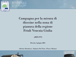 Campagna per la misura di diossine nella zona di pianura della regione Friuli Venezia Giulia