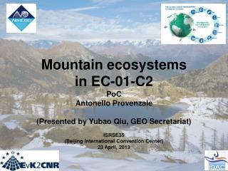 Mountain ecosystems  in EC-01-C2 PoC Antonello Provenzale