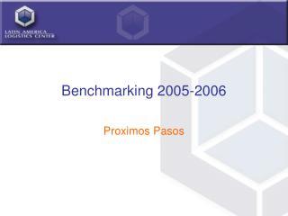 Benchmarking 2005-2006