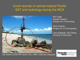 Coral records of central tropical Pacific SST and hydrology during the MCA