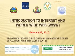 Introduction to internet and world wide web (WWW)