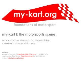 my-kart & the motorsports scene