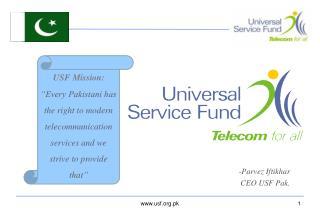 Parvez Iftikhar CEO USF Pak.