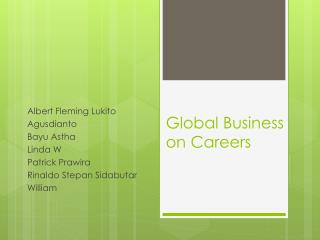Global Business on Careers