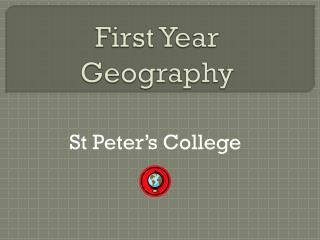 First Year Geography