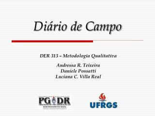 Diário de Campo