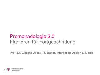 Promenadologie 2.0 Flanieren f�r Fortgeschrittene.