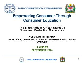 Empowering Consumer Through  Consumer Education