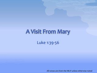 A Visit From Mary