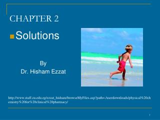 Solutions   By  Dr. Hisham Ezzat