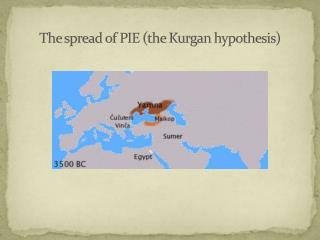 The spread  of PIE  ( the Kurgan hypothesis )