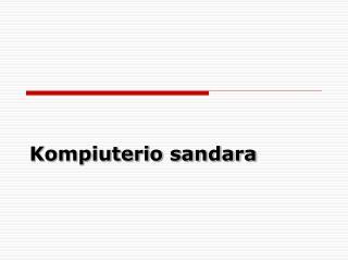 Kompiuterio sandara