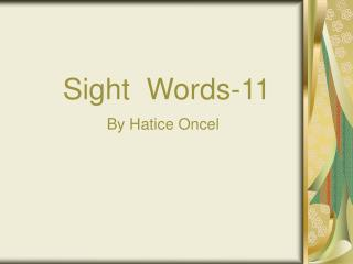 Sight  Words-11