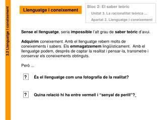 Llenguatge i coneixement