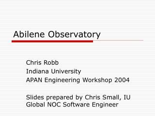 Abilene Observatory