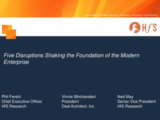 Five Disruptions Shaking the Foundation of the Modern Enterprise