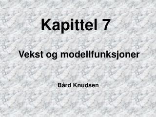 Kapittel 7