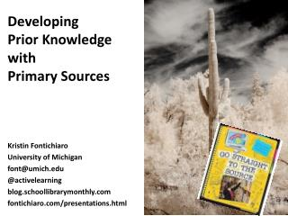 Developing  Prior Knowledge with Primary Sources