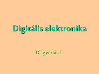 Digit á lis  elektronika