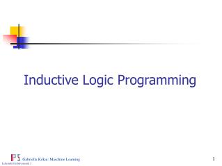 Inductive Logic Programming