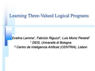 Learning Three-Valued Logical Programs